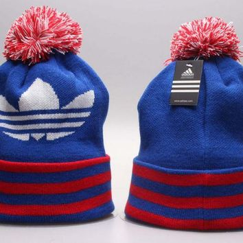 Perfect adidas Print Women Men Hip hop Beanies Winter Knit Hat Cap