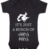 It's All A Bunch Of Hocus Pocus Witch Magic Spell Baby Halloween Baby Onesuit Vest