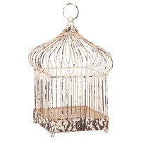 One Kings Lane - The Enchanted Forest - Distressed Market Birdcage