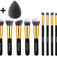 10 Pieces Professional Cosmetics Brushes