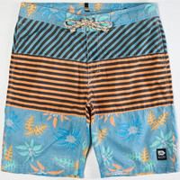 Rusty Cut Out Mens Boardshorts Black  In Sizes