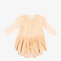 Stella McCartney Mouse Tulle Gold Heart Dress - Beige Pink - 349171