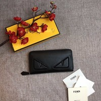 Kuyou Gbt391104 Fendi Leather Zip Around Wallet 19*10cm