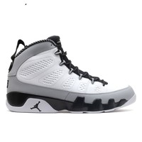 Air Jordan 9 Retro Barons White/Black-Wolf Grey AJ9 Sneakers
