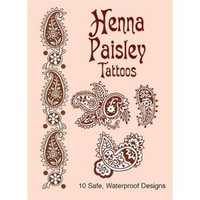 Henna Paisley Tattoos (Dover Tattoos) [Paperback]