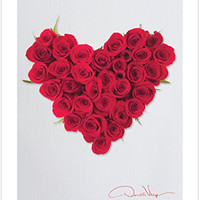 LOVE - Red Rose Flower Heart Poster Print. 11x14 Great For Framing. From the Heart Collection. Unique Birthday, Christmas & Valentines Day Gifts. Best Quality Gifts for Men, Women & Kids.
