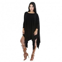 Plus Size Black Long Sleeve Dresses