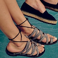 Faryl robin + Free People Womens Vegan Gemma Lace Up Sandal