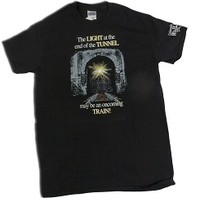 """""""The LIGHT at the end of the TUNNEL may be..."""" Black T-Shirt - Colorado Railroad Museum Depot General Store"""