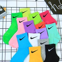 3 pcs of pure cotton NiKe ins tide summer sport models tube socks / high tube socks / boat socks
