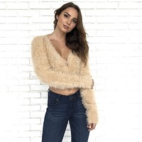 Soft To The Touch Peach Fuzz Sweater