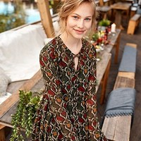 Pins & Needles Handkerchief Floral Dress - Urban Outfitters
