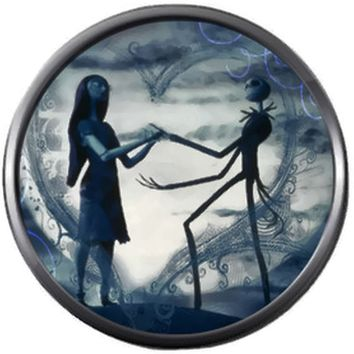 Smokey Grey Jack And Sally In Love Nightmare Before Christmas Jack Skellington 18MM - 20MM Snap Jewelry Charm
