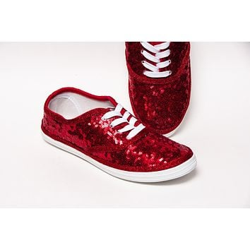 Red Starlight Sequin Sneakers