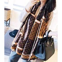 LV Louis Vuitton Fashion New Monogram Print Scarf Women