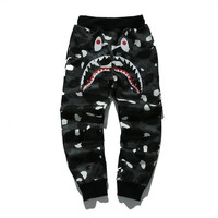 BAPE Dark Camo Shark Sweatpants