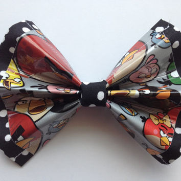 Angry Birds Duct Tape and Fabric Hair Bow
