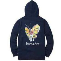 Supreme Gonz Butterfly Zip Up Hoodie - Navy