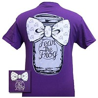 Texas TCU Horned Frogs Mason Jar Big Bow Girlie Bright T Shirt