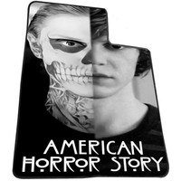 American Horror Story Tate Langdon Evan Peter 7bc7393a-0c06-4887-8823-4acff470a0f0 for Kids Blanket, Fleece Blanket Cute and Awesome Blanket for your bedding, Blanket fleece *AD*