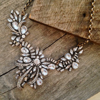 Crystal Ribbons Statement Necklace