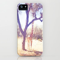Giraffe Painting 2 iPhone & iPod Case by Elyse Notarianni