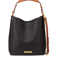 Softy Leather Saddle Hobo Bag, Black - MARC by Marc Jacobs