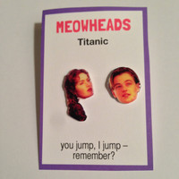Titanic Rose and Jack earrings