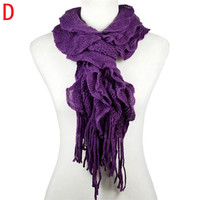 Women Warm winter Knitting woolen knit scarves basic design ready for DIY with jewelry beads charms,13colors available,nl-2076
