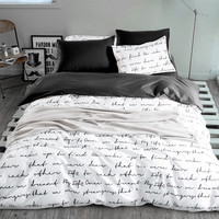 Letter Printing Bedding Sets