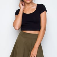 Heartbreaker Skater Skirt in Olive