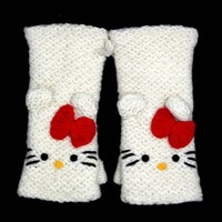 Hello Kitty Handwarmers (White)