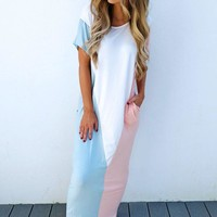 Block Party Maxi: Powder Blue/Multi