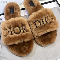Dior's New Wool Slippers Shoes