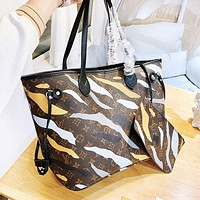 LV Louis Vuitton AAA New Women Fashion Leather Handbag Tote Shoulder Bag Purse Wallet Two-Piece Set