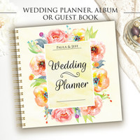 Wedding Planner - Wedding Album - Personalized Scrapbook - Photo Album - Guest Book - Personalized Wedding Gift