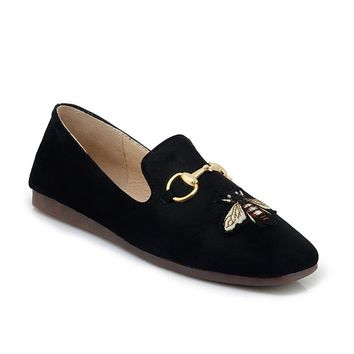 Women's Shallow Embroidery Flat Shoes