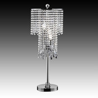 Crystal Bead Curtain Chrome Table Lamp at Brookstone—Buy Now!