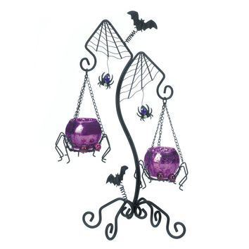 Spider Web Duo Candle Holder