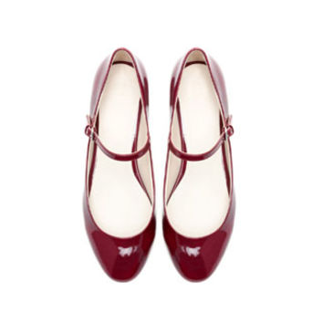 BALLERINA SHOES WITH ANKLE STRAP - Shoes - Woman   ZARA United States