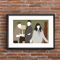 New Girl Poster - Nick, Schmidt, and Jess Print