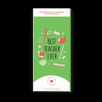 Sweeter Cards Chocolate Bar + Greeting Card in ONE! - Teacher Appreciation Card with Chocolate INSIDE
