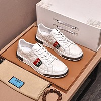 Gucci2021 Men Fashion Boots fashionable Casual leather Breathable Sneakers Running Shoes0426qh