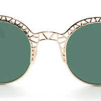 Fleur Sunglasses - Green and Gold