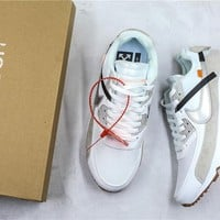OFF-WHITE x Nike Air Max 90 White Sneaker Shoes