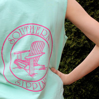 Adirondack Chair Tank Southern Sippin' - Island Reef