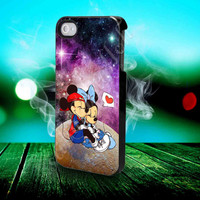 Mickey And Minnie Mouse Star In Galaxy Nebula - for iPhone 4/4s, iPhone 5/5S/5C, Samsung S3 i9300, Samsung S4 i9500 Hard Case