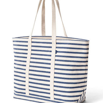 Canvas Boat Tote: Sailor Stripe