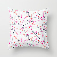 Love Arrows Throw Pillow by Sam Osborne