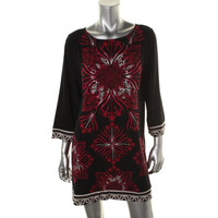 Style & Co. Womens Stretch Printed Casual Dress